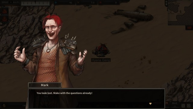 Dust to the End, game screenshot, conversation with gang leader