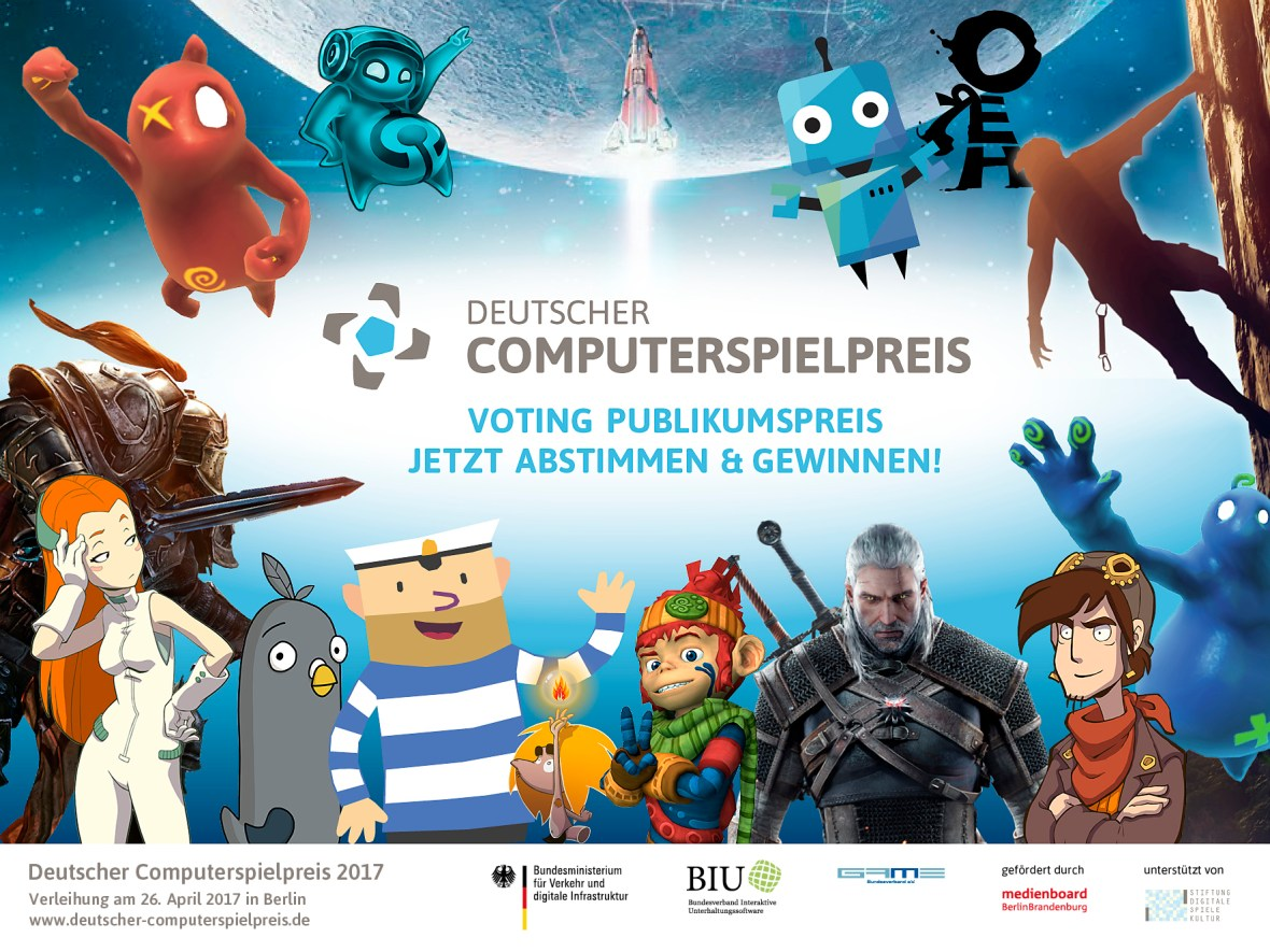 Deutscher Computerspielpreis 2017 nächste Woche im Livestream