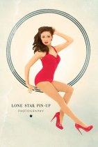 Red Retro Pin Up Halter One Piece