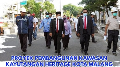 Pembangunan Kawasan Kayutangan Heritage Kota Malang Diprotes Netizen (Foto via Twitter @PemkotMalang)