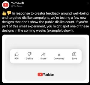 YouTube Sembunyikan Jumlah Dislike. Sudah Fix, kah?