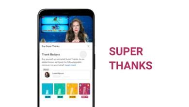 Fitur baru YouTube, Super Thanks