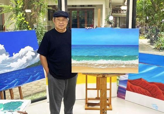 SBY Melukis di Tengah PPKM, Ternyata Hasilnya Keren!