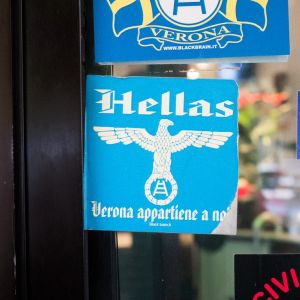 Dodgy fascist imagery from Hellas Verona