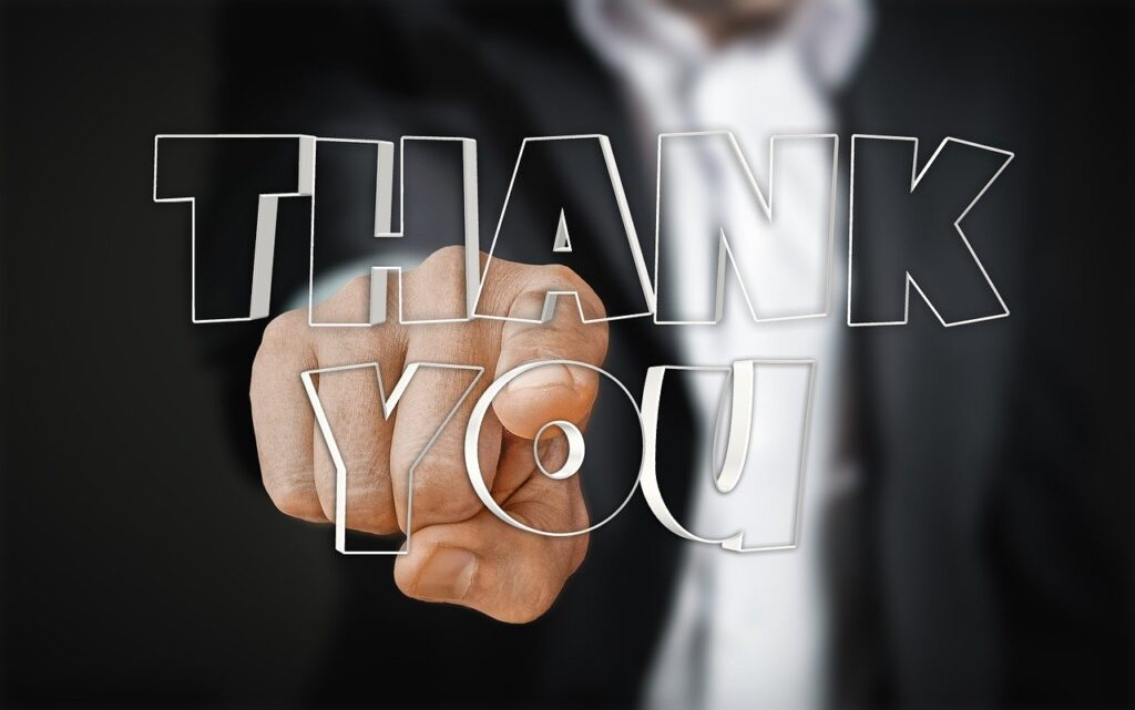 Thank You Thank You Very Much Hand