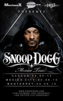 Flyer: Snoop Dog en México