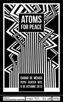Flyer: Atoms For Peace en el Pepsi Center WTC