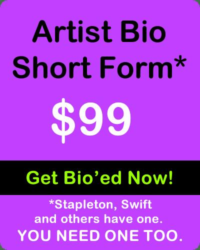 Indie Artist Bio Short Form by IndieMusic Nashville