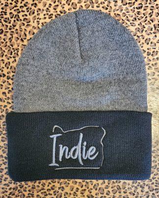 Indie Beanie - Black & Gray