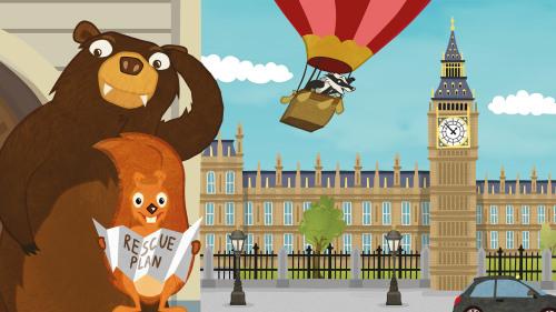 Squirrel & Bär wird von The Goof Evil entwickelt und hat 2016 die Förderung erhalten
