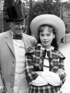leslie Caron and Maurice Chevalier in Gigi