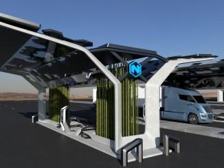 Estación de recarga de hidrógeno de Nikola