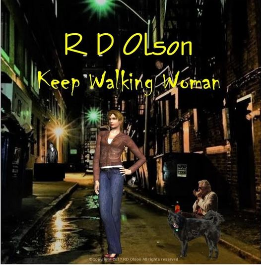 R.D. OLSON BLUES BAND KEEP WALKING WOMAN CD ART SMALLER VERSION
