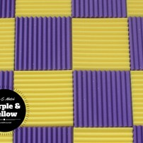 mix and match acoustic foam colors - purple and yellow 2