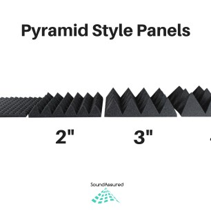 pyramid' style acoustic foam panels