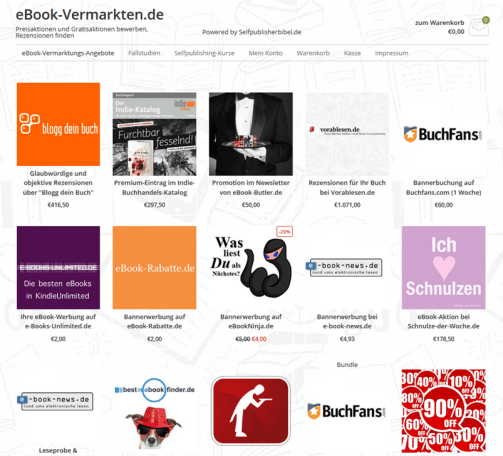 german book promotions