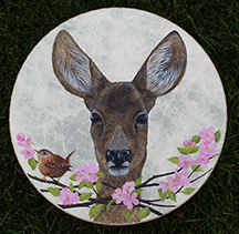 Doe and Wren Drum by Sharyn Turner