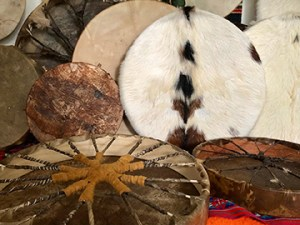 Shamanic Drums made by Adam X Hearn