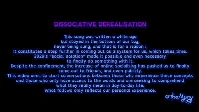 Dissociative Derealisation