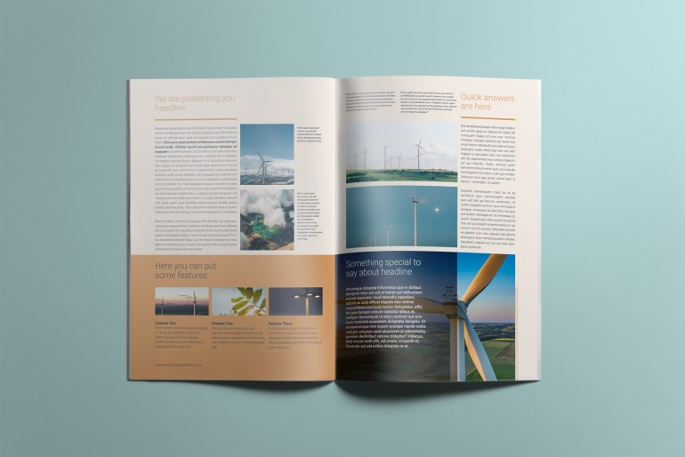 Energa - A4 brochure template inner pages