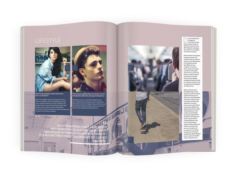 InDesign - Magazine template