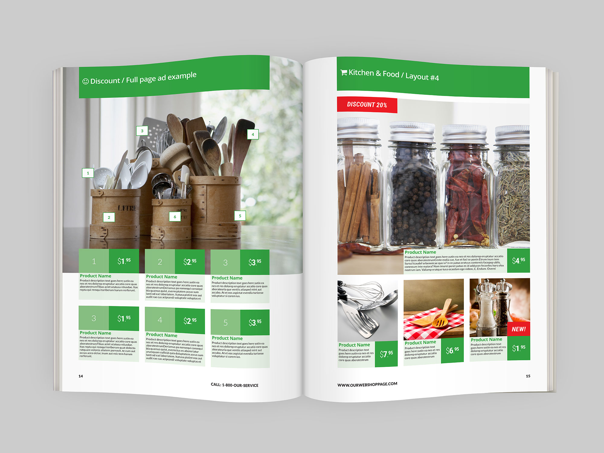 Product Catalog Indesign Template - IndieStock