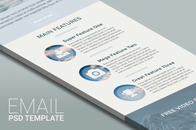 ABOVE - Email PSD Template
