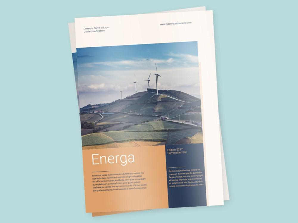 a4 brochure template