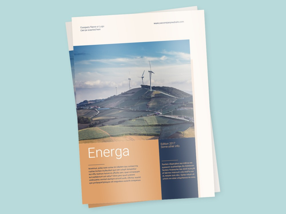 Energa A4 Brochure Template Indesign Template