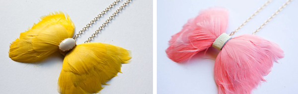 Our House feather bow ties > Indie Wed blog