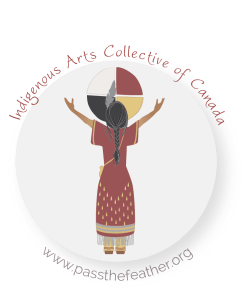 indigenartsy, logo, pass the feather, indigenous arts collective of canada