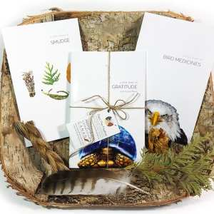 a little book of bird medicines, a little book of smudge, a little book of gratitude, pass the feather, indigenartsy, book set