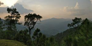 Breathtaking view from Binsar Village Homestay