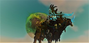 Warcraft Priest on a Moose.
