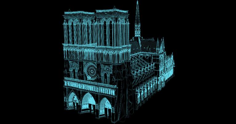 Gelukkig zijn er ongelooflijke 3D-scans van de Notre Dame