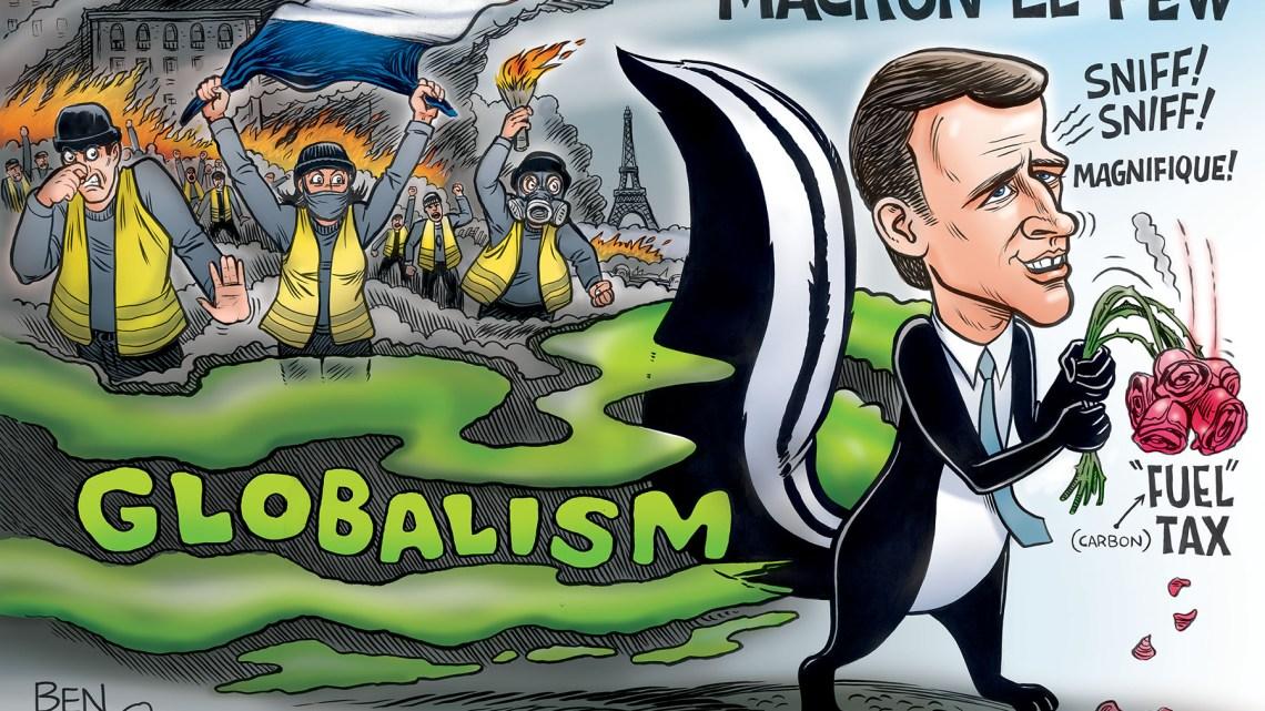 De arbeidersbeweging van Frankrijk is in vuur en vlam