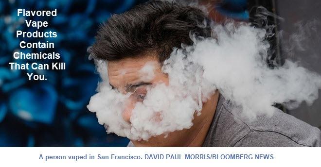 Gearomatiseerde e-sigaret-chemicaliën veroorzaken popcornlong: het kan je doden
