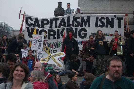 Socialisme stopt als 'andermans' (= ons belasting) geld op is!