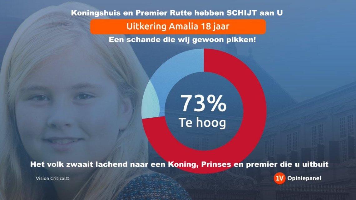 Studenten hoge schulden door KUT leenstelsel maar voor Amalia een prins van 18 jaar ligt  '1,5 miljoen p/j klaar