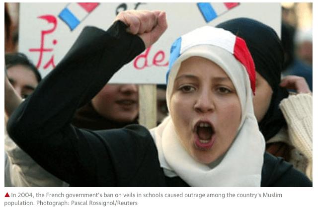Politieke oorlog in Frankrijk over hoofddoek-verbod