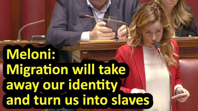 """EERSTE ITALIË! """"We zullen God, het land en het gezin verdedigen"""", zegt de moedige vrouwelijke versie van Matteo Salvini"""
