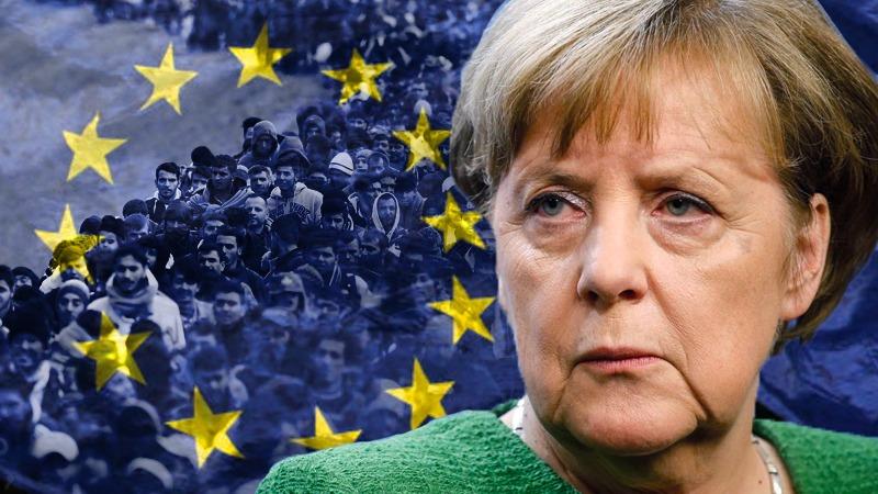 """Protestwake in Berlijn voor Merkel´s bunker: """"Ik ben een slachtoffer van de migratie!"""" – een van de duizenden"""