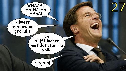 Een waarschuwing aan ons (elite) kabinet Rutte III veel beloven NIETS doen