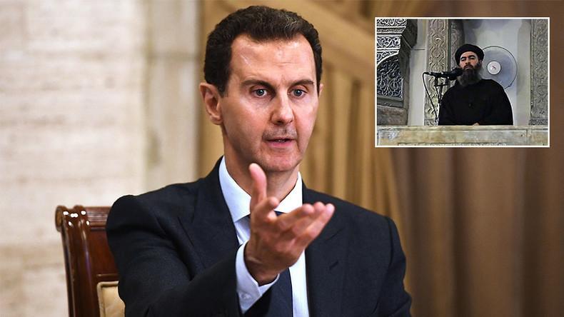 """""""Tricks of the Americans"""": Assad twijfelt aan de dood van al-Baghdadis en trekt parallellen met Bin Laden"""