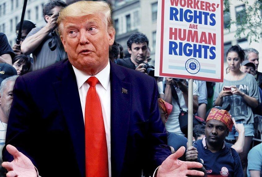 Er komt een nationale opstand van de arbeiders in de VS die de media niet rapporteren