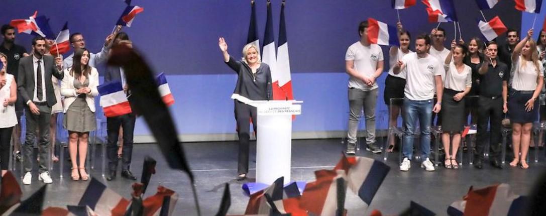 De populariteit van Marine Le Pen op een recordhoogte