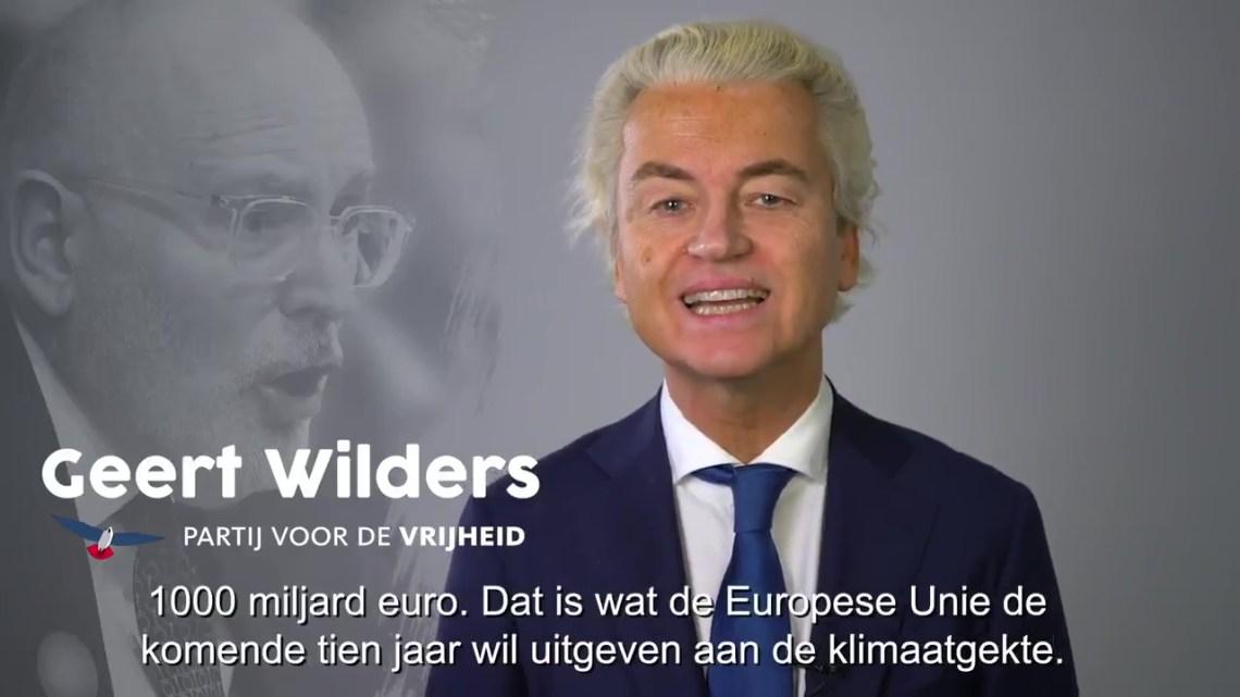Wilders lanceert keiharde aanval op Timmermans: 'EU wil €1000 miljard aan klimaatgekte geven! Niet aan pensioenen!'