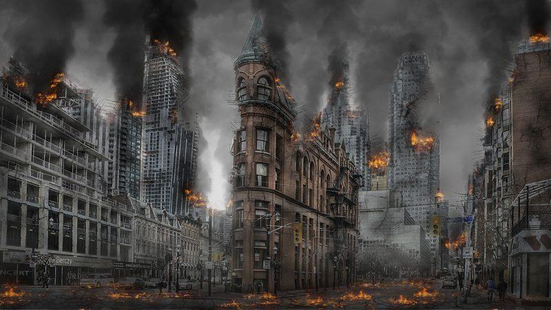 De ineenstorting van de westers gecentreerde wereld