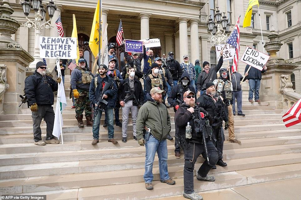 "Manbaby-protest in Michigan: Wacht, we dachten dat conservatieven ""ruige individuen"" waren"