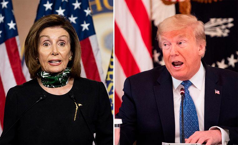 """Van """"hij is morbide obees"""" tot """"ze is een zieke vrouw"""": opnieuw slaande ruzie tussen Trump en Pelosi"""